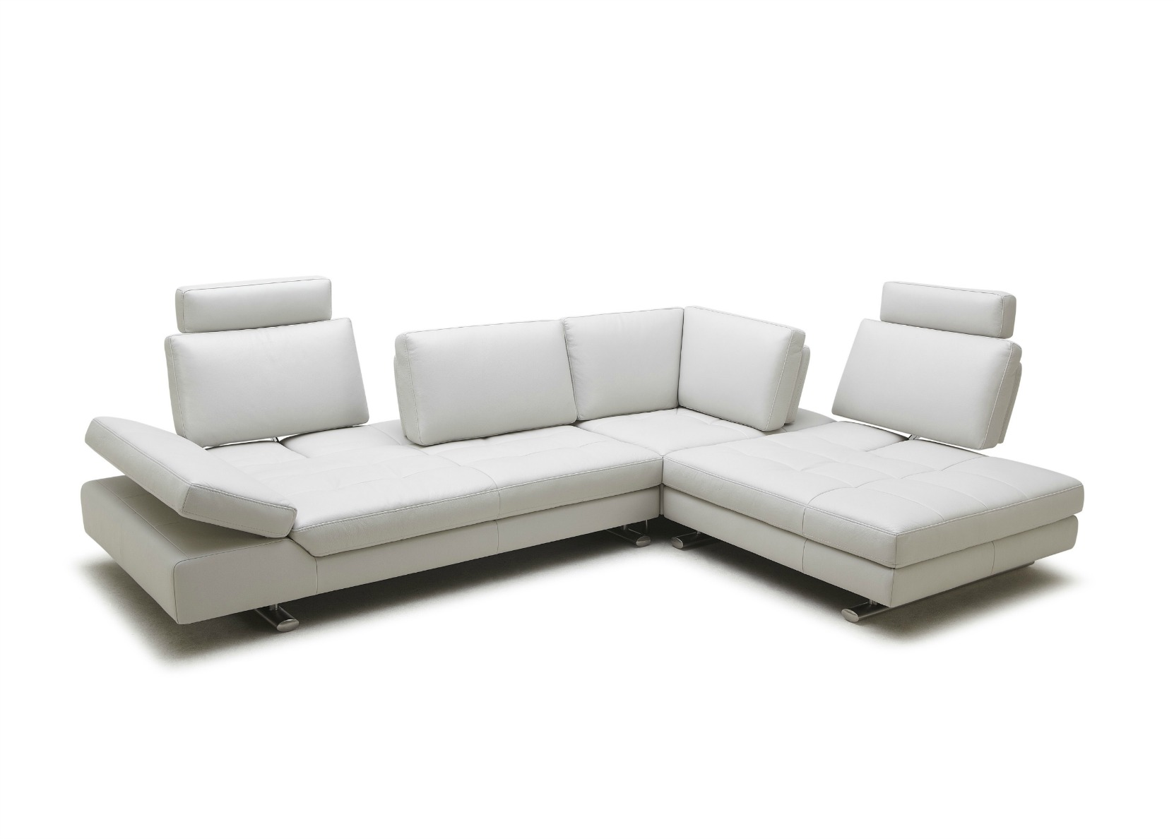 Compact L Shape Sofa With Sliding Back Rest ...