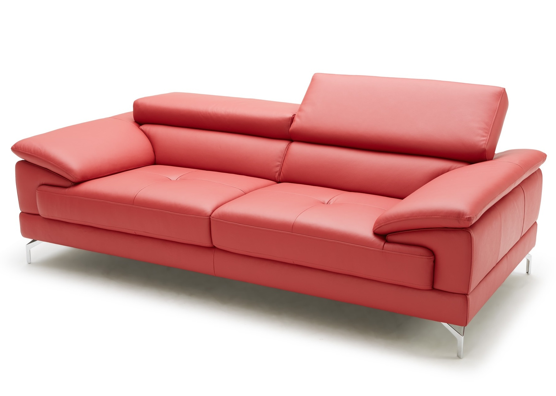 Sleek And Stylish Sofa In Red Leather Not Just Brown