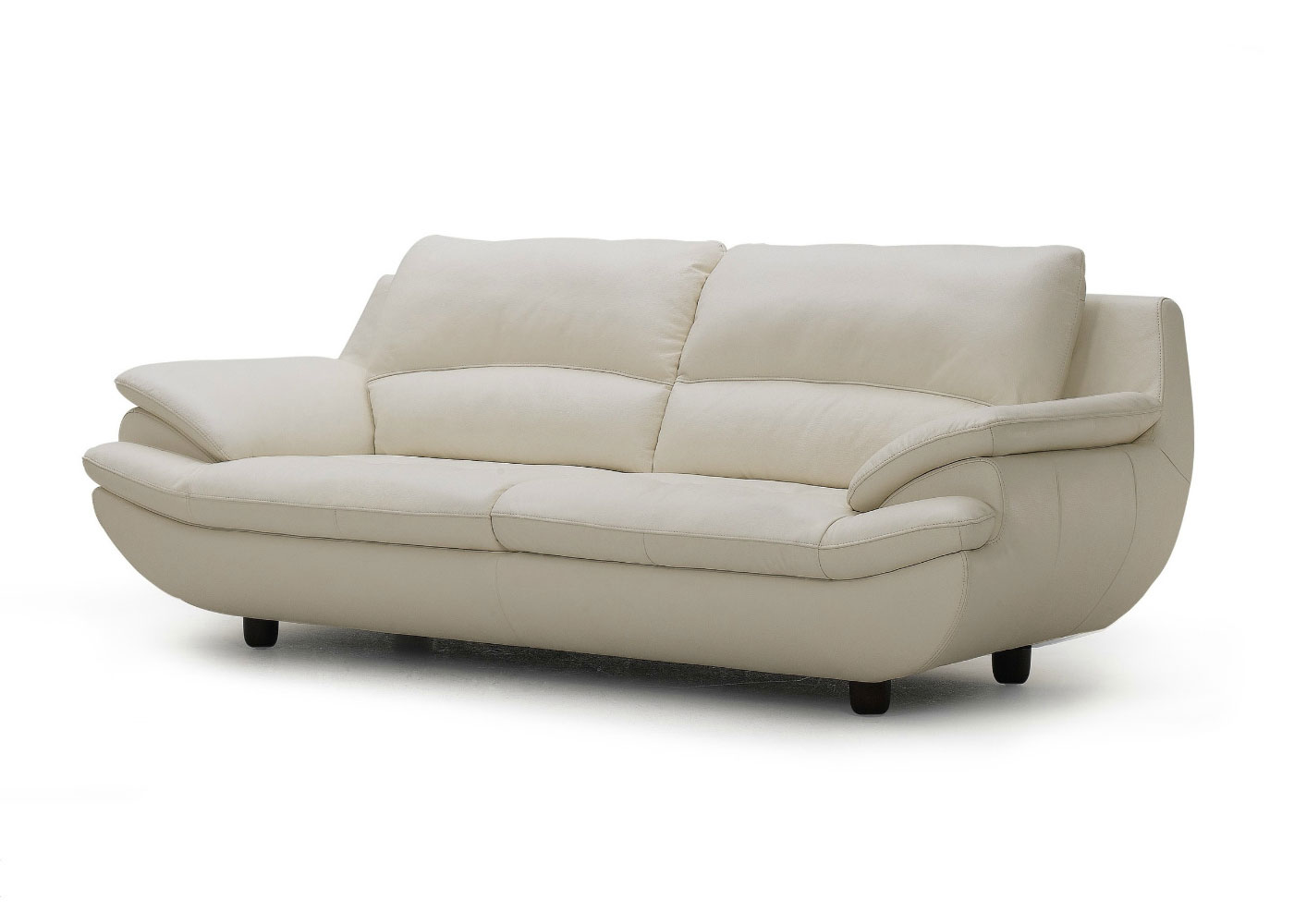Plush Leather Sofa In Off White Not Just Brown