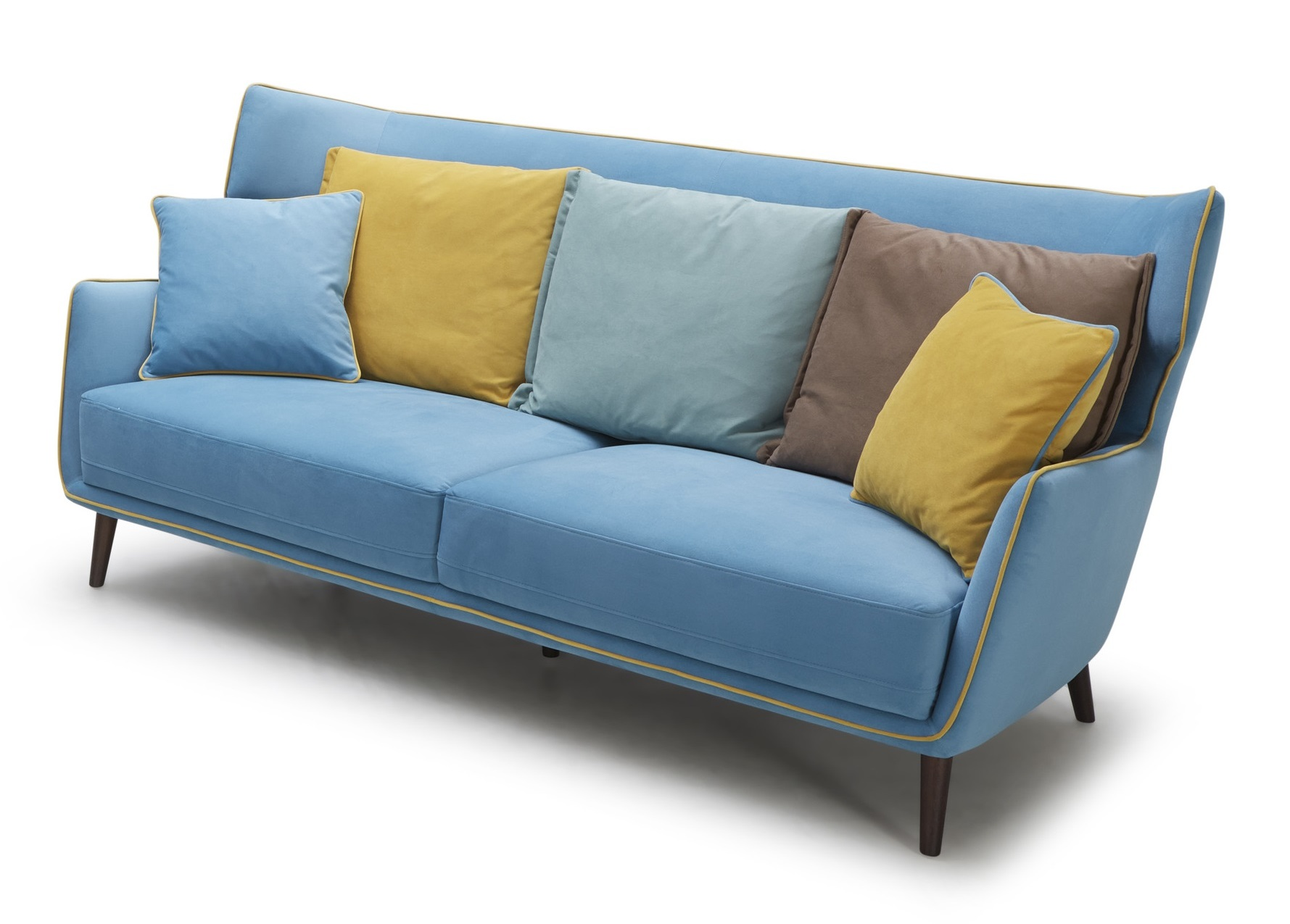 tall boy retro sofa in acqua blue color not just brown. Black Bedroom Furniture Sets. Home Design Ideas