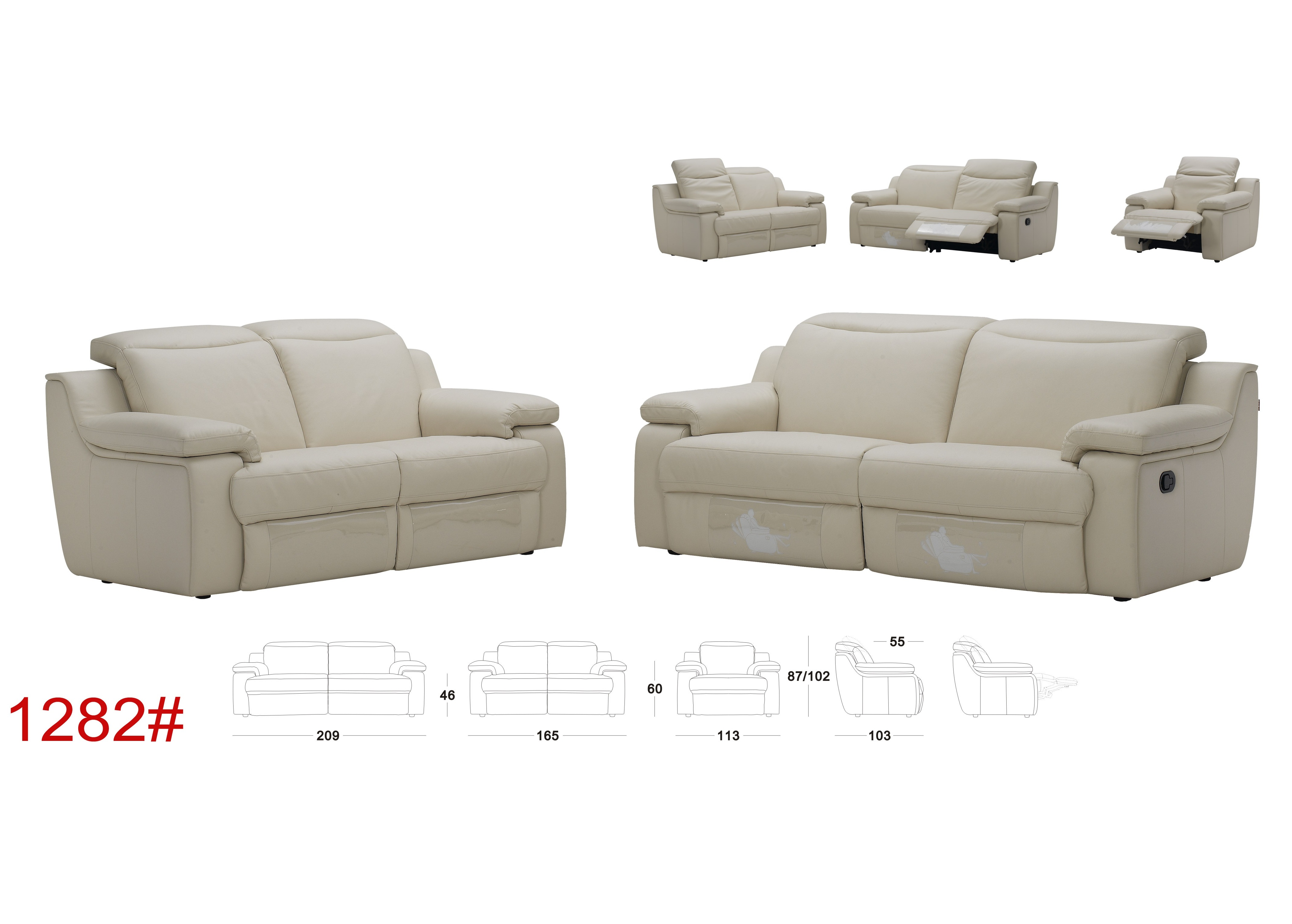 Plum Sofa With Motorized Reclining Function Not Just Brown
