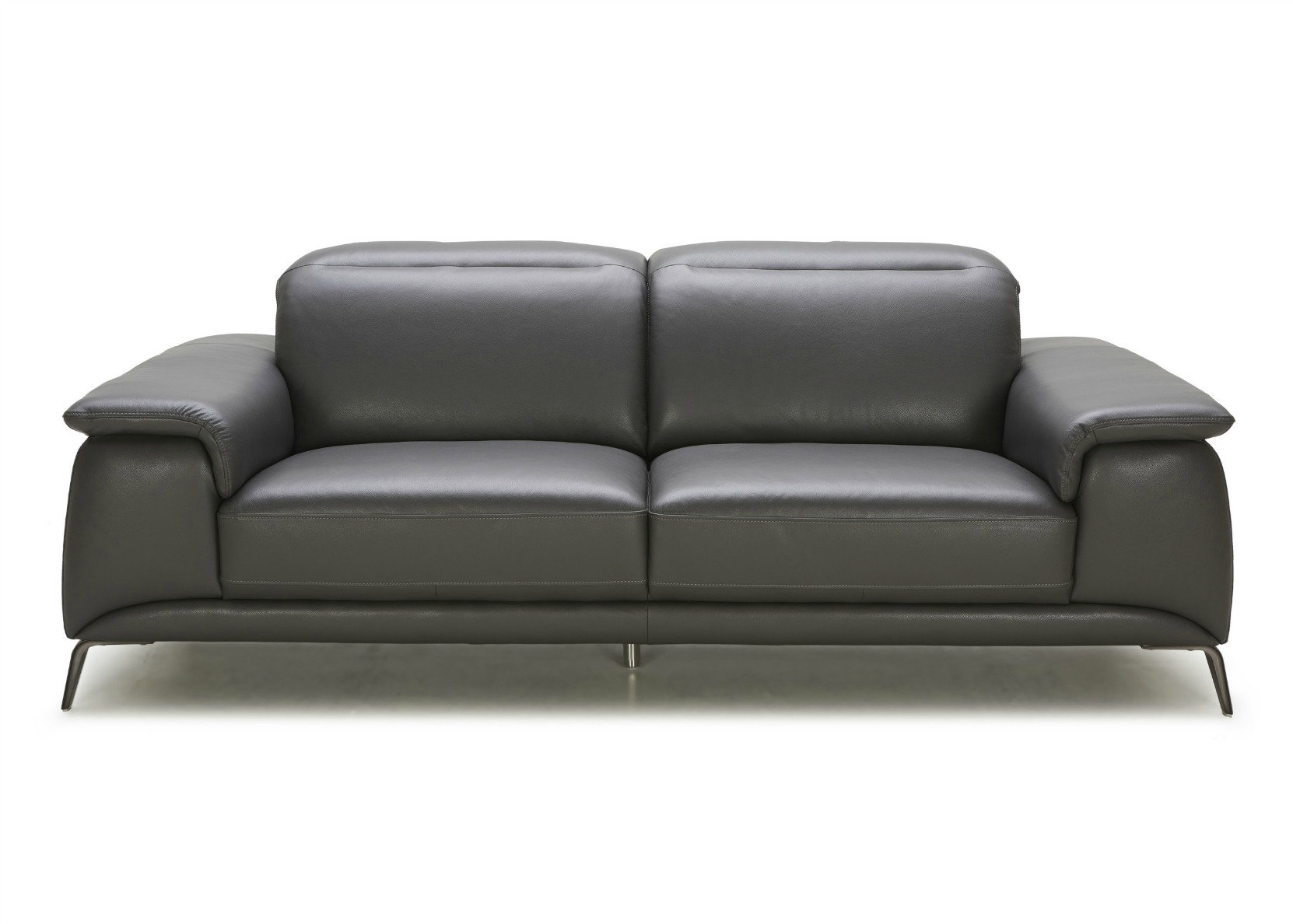 Stan Leather Sofa With Adjustable Headrest Not Just Brown