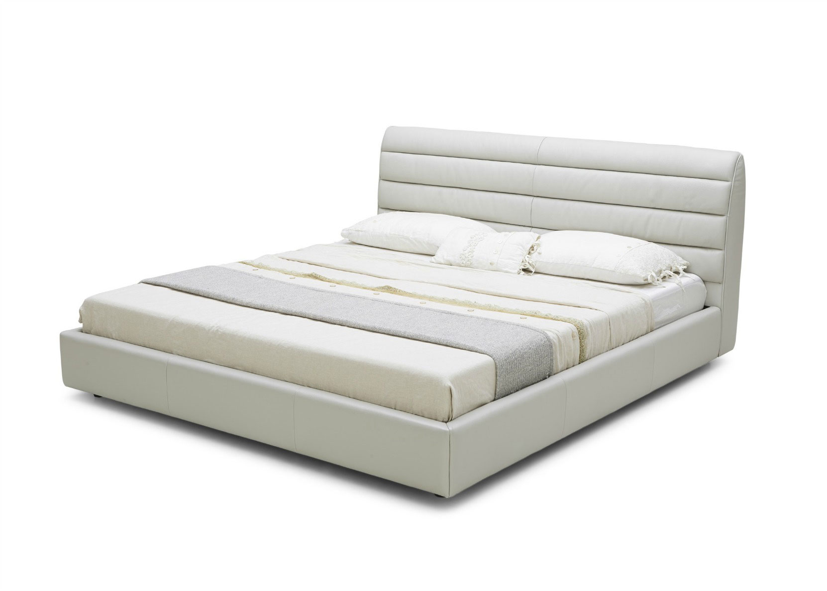 Contemporary Bed With A Solid Upholstered Frame - Not Just Brown