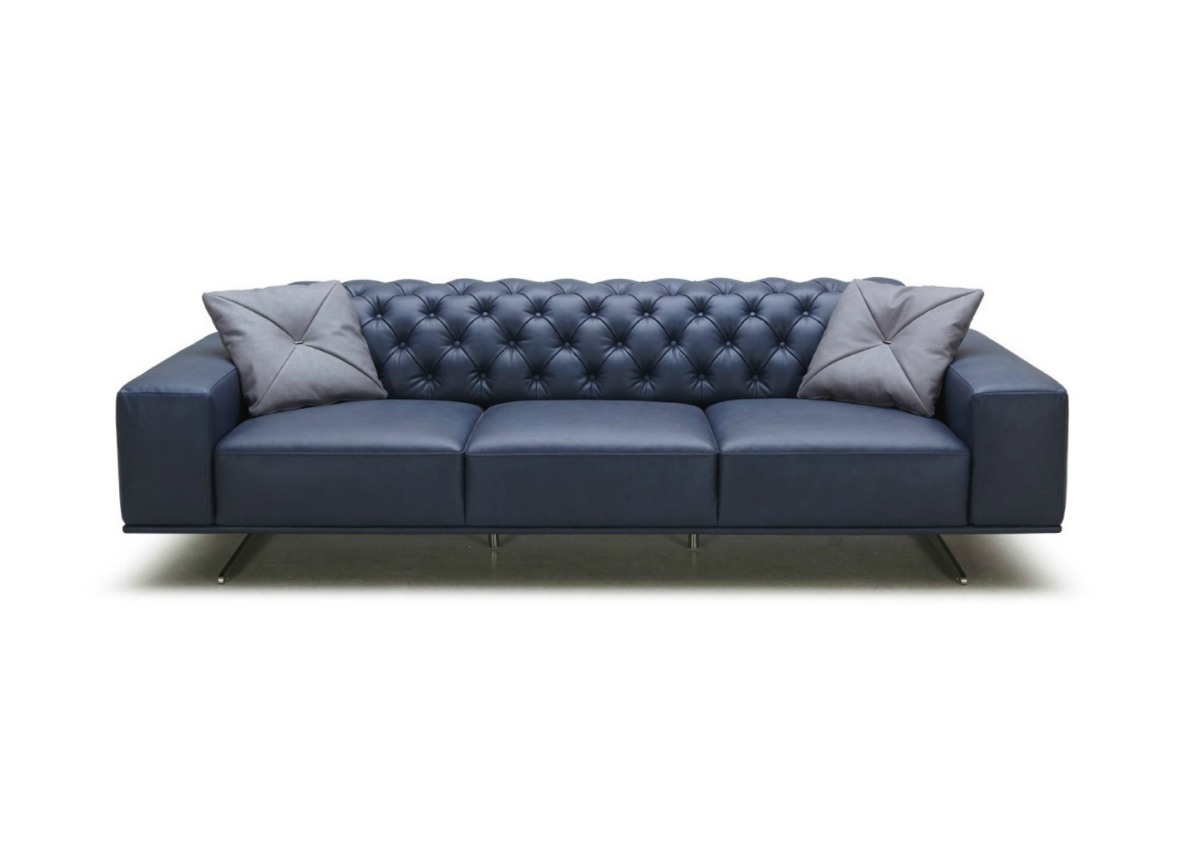 Sloan Sofa In Rich Blue Leather Not Just Brown
