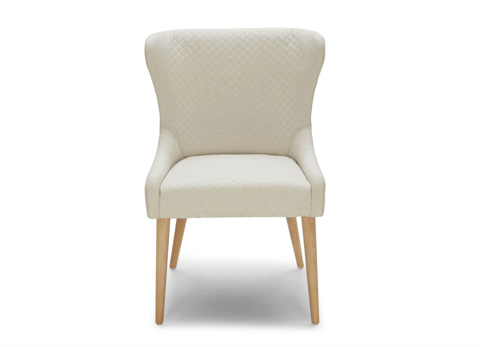 Stella dining chair in off white fabric not just brown for Colorful leather dining chairs