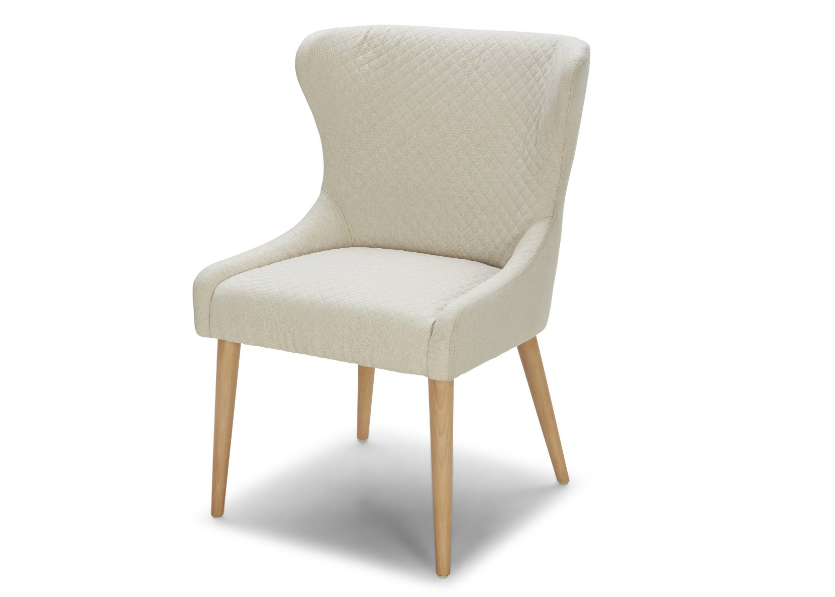 Stella dining chair in off white fabric not just brown for White fabric dining chairs