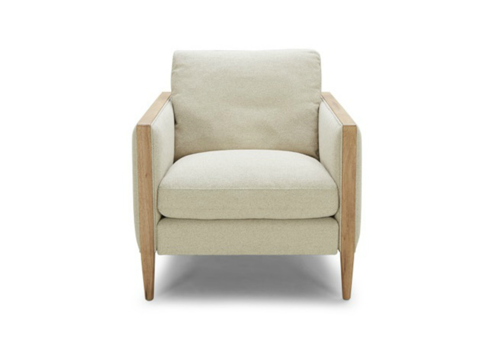 Sofa In Linen Mix Fabric And Birch Wood Not Just Brown