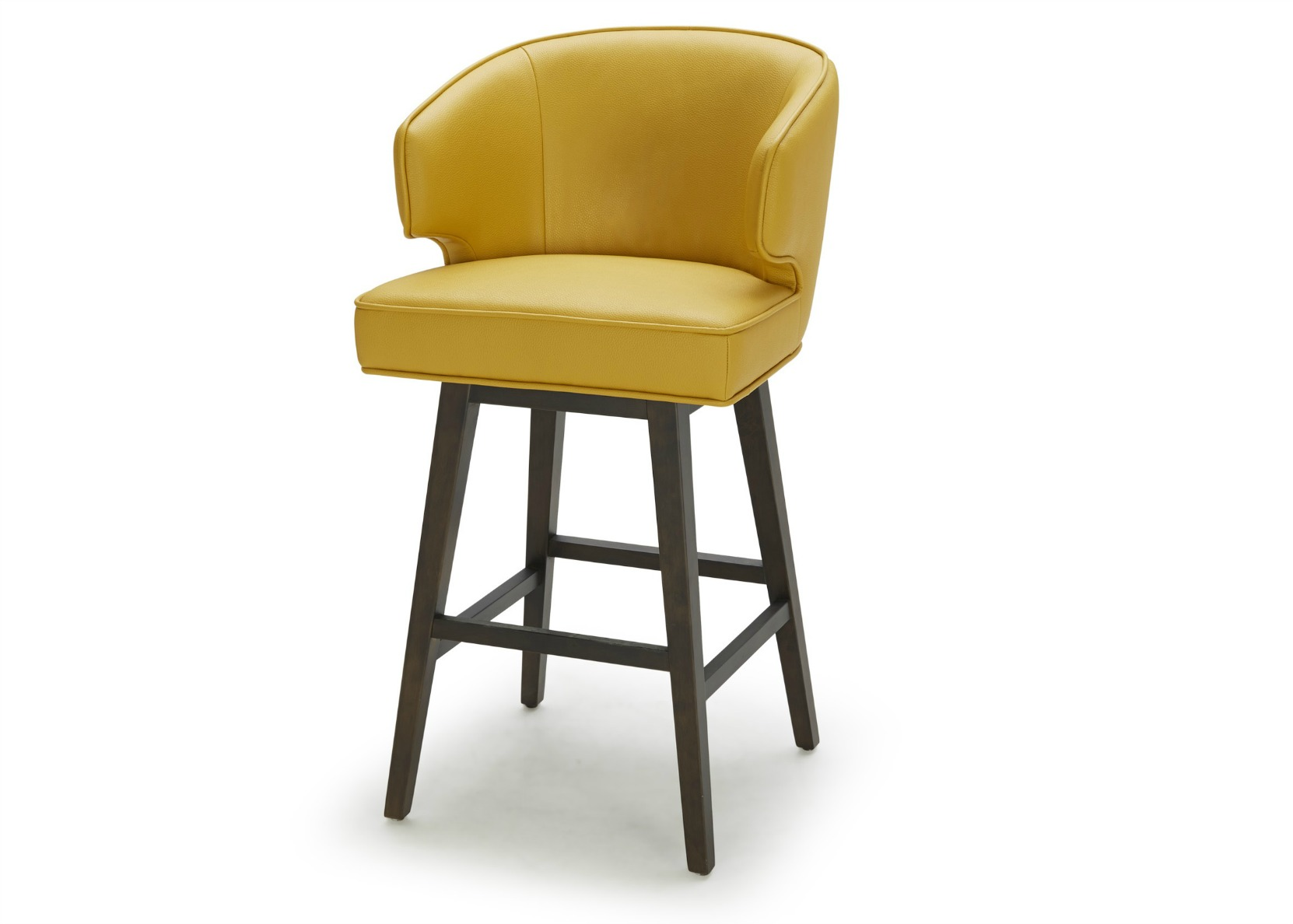 Daisy Bar Stool In Bright Yellow Leather Not Just Brown