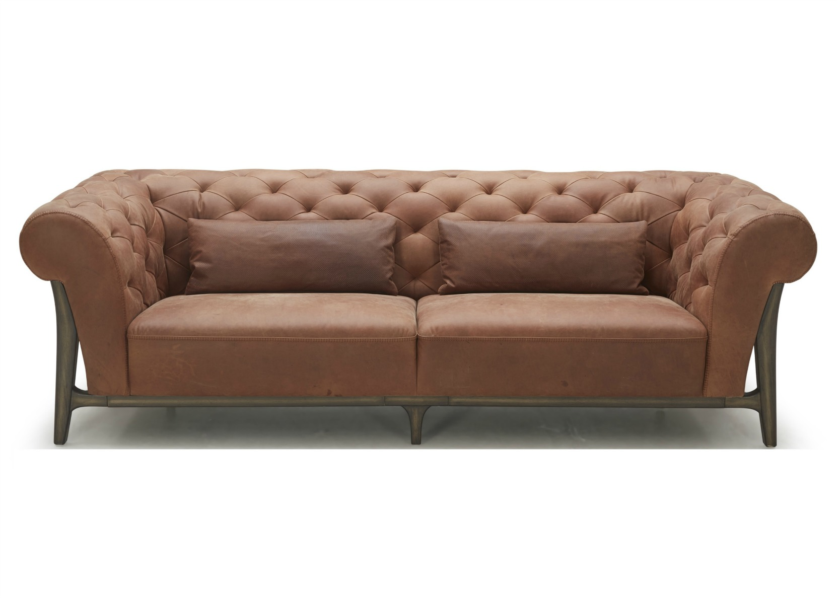 Chesterfield Sofa In Leather Wood Not Just Brown ~ Chesterfield Brown Sofa