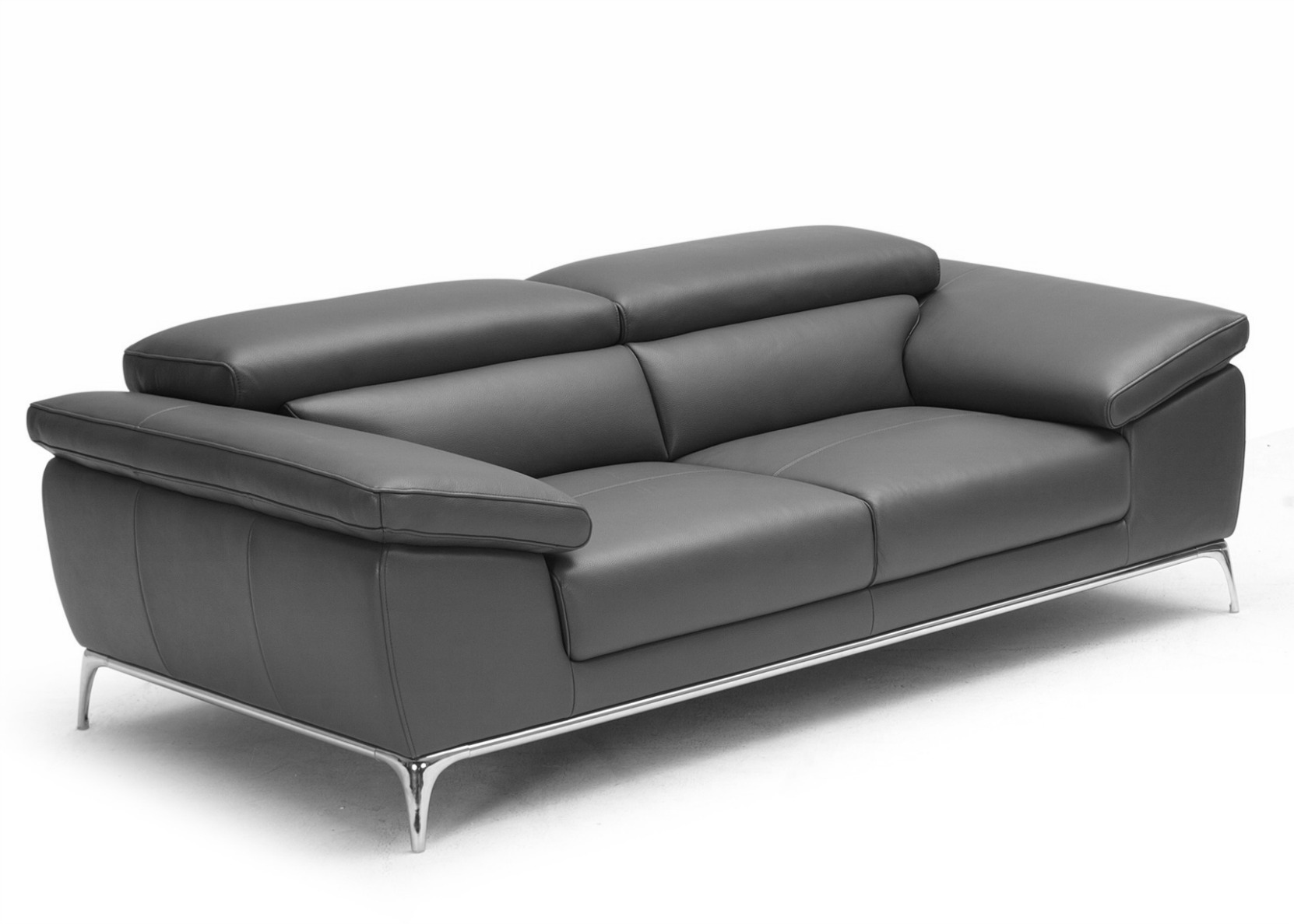 Ebony Sofa With Adjustable Headrest Not Just Brown