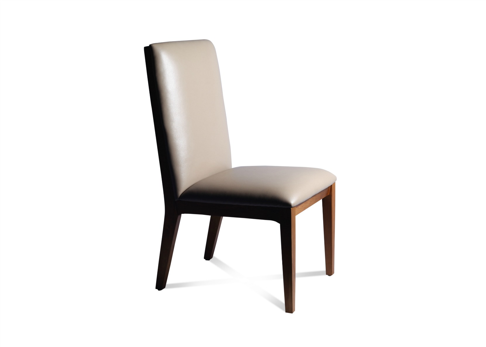 Spira Dining Chair In Taupe Leather Not Just Brown