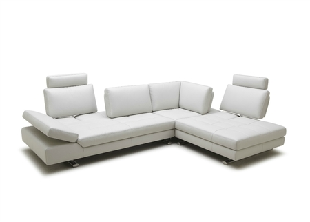Compact L Shape Sofa With Sliding Back Rest