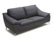 Pulse Leather Sofa In Black Color