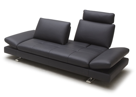 City Leather Sofa With Adjustable Back