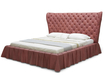 Budoir Bed Upholsterered In Wine Red Leather