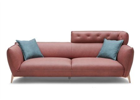 Ruby Leather Sofa With Contemporary Styling