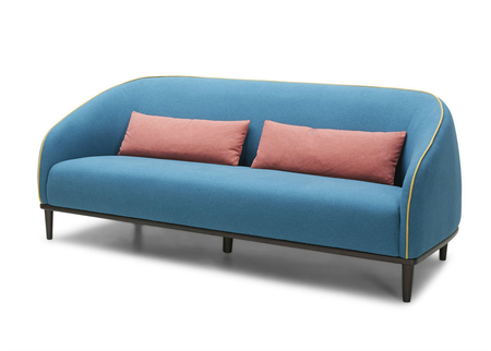 Emerald Sofa In Acqua Blue & Yellow
