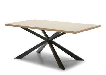 Kross Dining Table in Wood & Steel