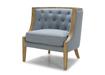 Elegant Lounge Chair In Fabric & Wood