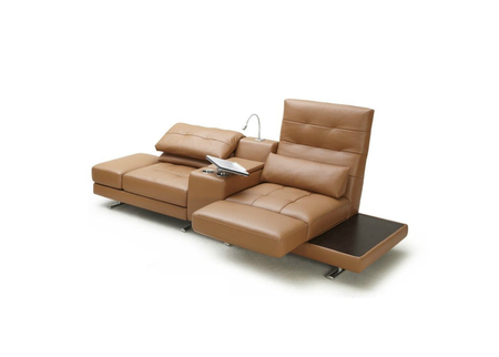 Lounge Sofa With Rotating Seats & Adjustable Armrests