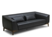 'Milano' Sofa In Black And White Leather