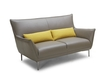 'Iris' Leather Sofa In Yellow And Brown