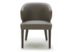 Dining Chair In Dark Brown Leather