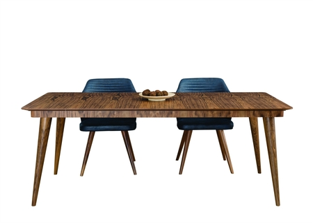 Curve Dining Room Set With Chairs & Sideboard