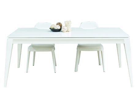 Crose White Dining Room Set With Chairs & Sideboard