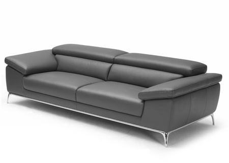 Ebony Sofa With Adjustable Headrest