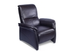 Manual Reclining Chair In Dark Brown Leather
