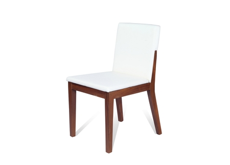 Trump Dining Chair In White Leather
