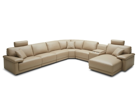 Modular, L Shape Group Sofa In Leather
