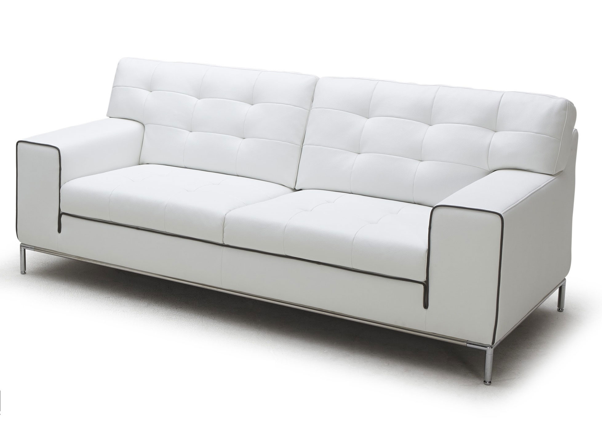 Cube Sofa In White Leather Not Just Brown