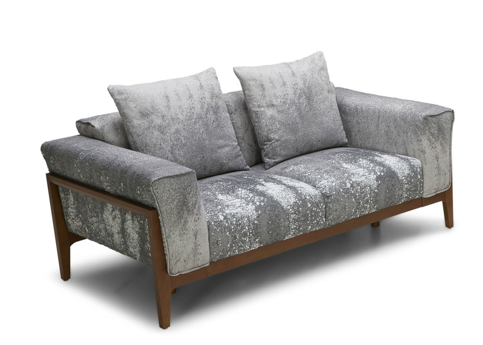 Dove Fabric Sofa With Solid Wood Frame Not Just Brown